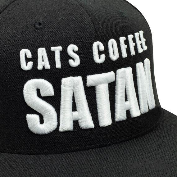 czapka CATS COFFEE SATAN