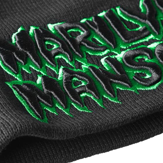 czapka zimowa MARILYN MANSON - LOGO