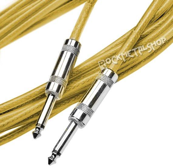 kabel gitarowy ACOUSTICS 6m jack prosty-prosty / żółty