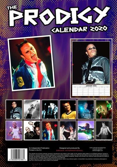 kalendarz THE PRODIGY 2020