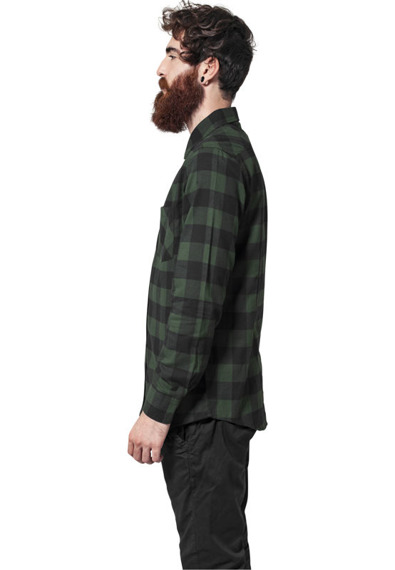 koszula CHECKED FLANELL blk/forest