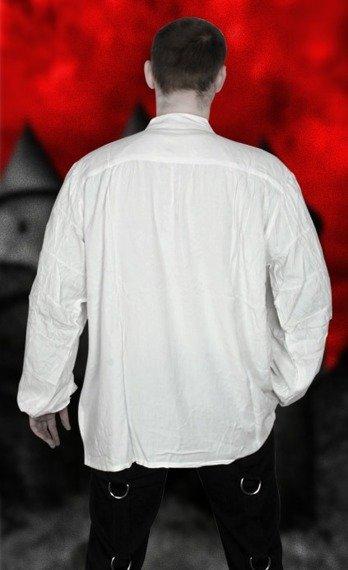 koszula GOTYCKA biała z żabotem (56657), USZKODZONA