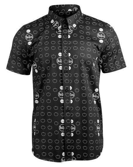 koszula THE BEATLES - DRUM AND APPLES (black)