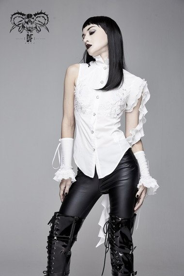 koszula damska PUNK RAVE - GOTH STAND white