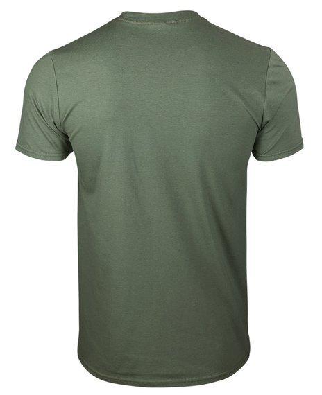 koszulka AMERICAN CHOPPER - WASHED LOGO oliwkowa