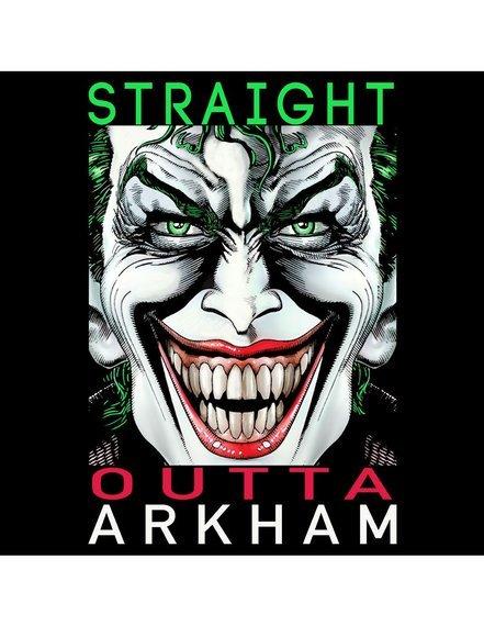 koszulka THE JOKER DC COMICS - STRAIGHT OUTTA ARKHAM