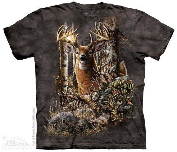 koszulka THE MOUNTAIN - FIND 9 DEER, barwiona