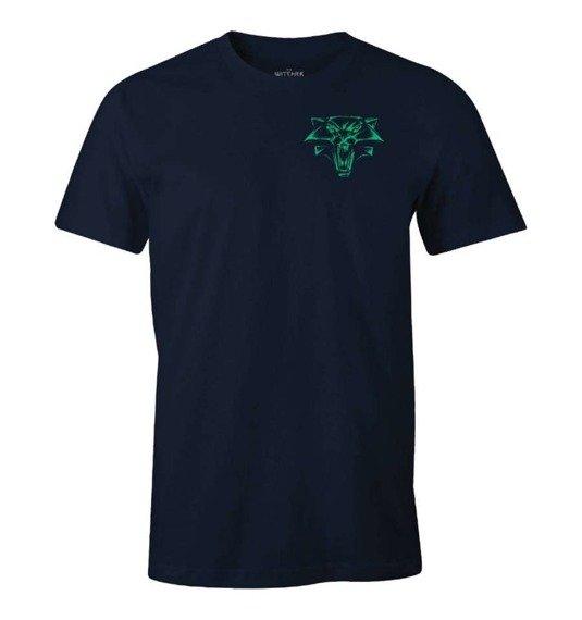 koszulka WIEDŹMIN / THE WITCHER - LION OF CINTRA granatowa