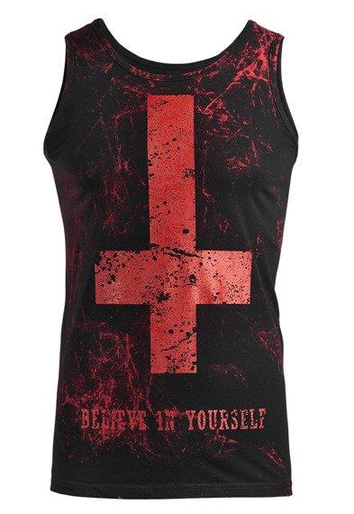koszulka na ramiączkach AMENOMEN - BELIEVE IN YOURSELF (OMEN003KR ALLPRINT RED)