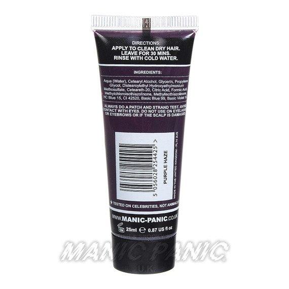 mini toner MANIC PANIC HIGH VOLTAGE CLASSIC HAIR COLOUR 25ml PURPLE HAZE
