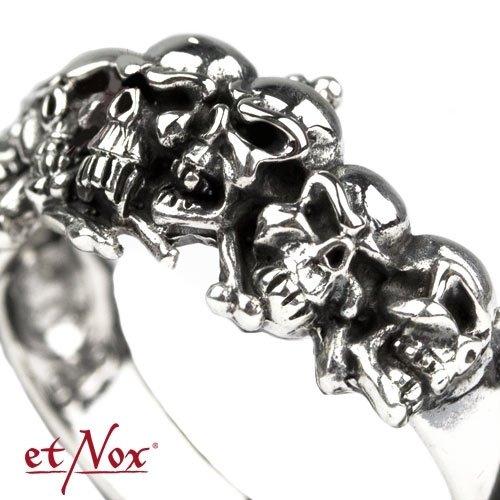 pierścień SKULLS,  srebro 925