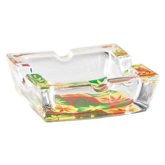 popielniczka szklana TRAWKA 3