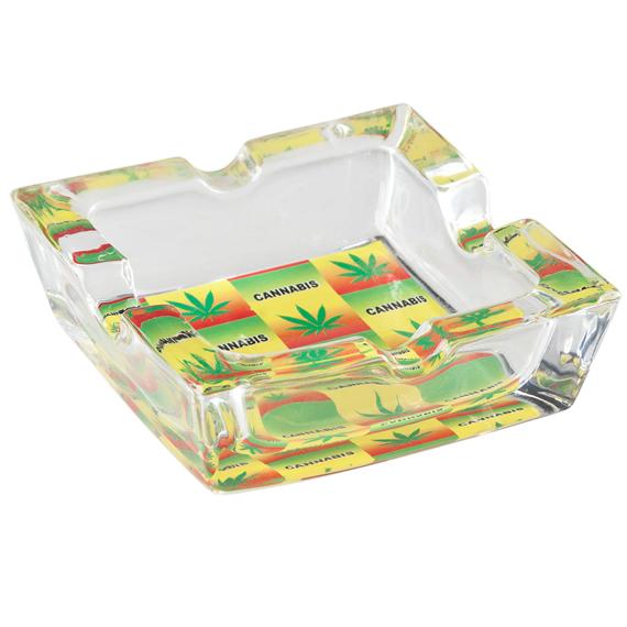 popielniczka szklana TRAWKA 4