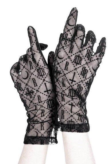 rękawiczki LUXURIOUS GOTH MONOGRAM