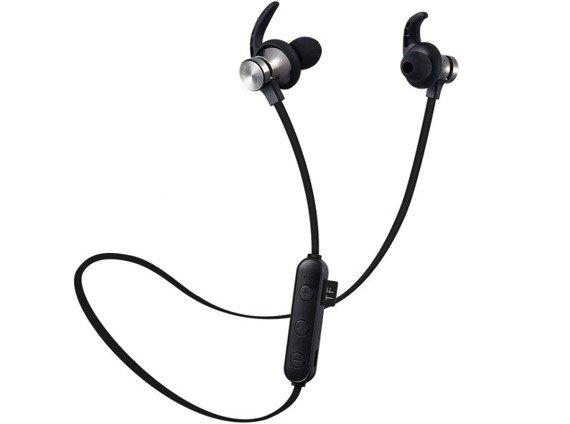 słuchawki bezprzewodowe BLUETOOTH DOUSZNE BLACK MP3 KARTA SD, do biegania