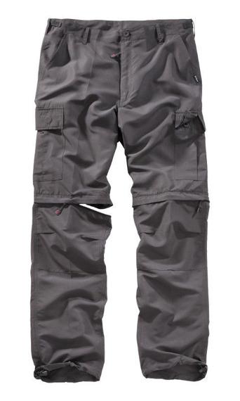 spodnie TREKKING - QUICKDRY antracytowe