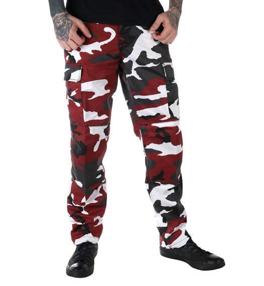 spodnie bojówki MMB US BDU HOSE RED CAMO