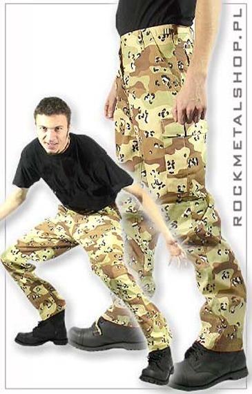 spodnie bojówki US RANGER HOSE - DESERT