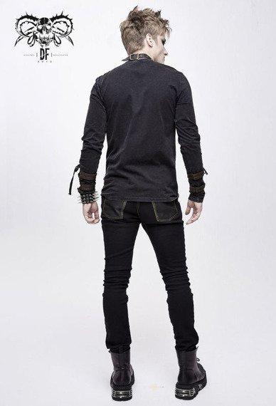 spodnie męskie PUNK RAVE - CROSS (black with bronze)