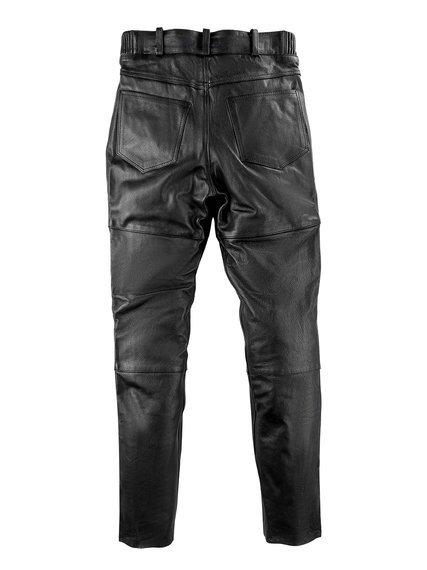 spodnie skórzane UNIK, proste UNISEX