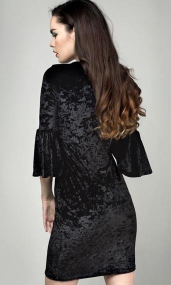 sukienka DISTURBIA - RITUAL VELVET BLACK