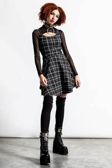 sukienka KILLSTAR - CRASH (ASH TARTAN)