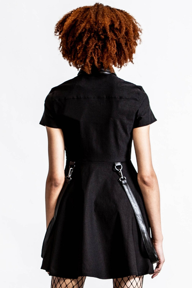 sukienka KILLSTAR - MENACE (BLACK)