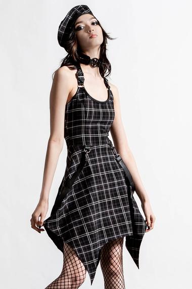 sukienka KILLSTAR - REBELLION (ASH TARTAN)