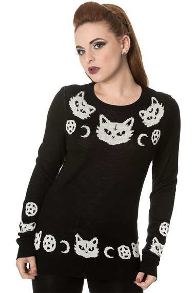 sweter BANNED - CAT KNIT