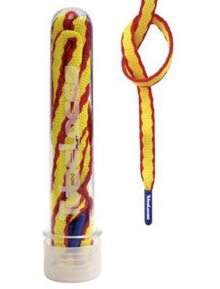 sznurowadła TUBELACES - FLAT WORLD SPAIN (120 cm)
