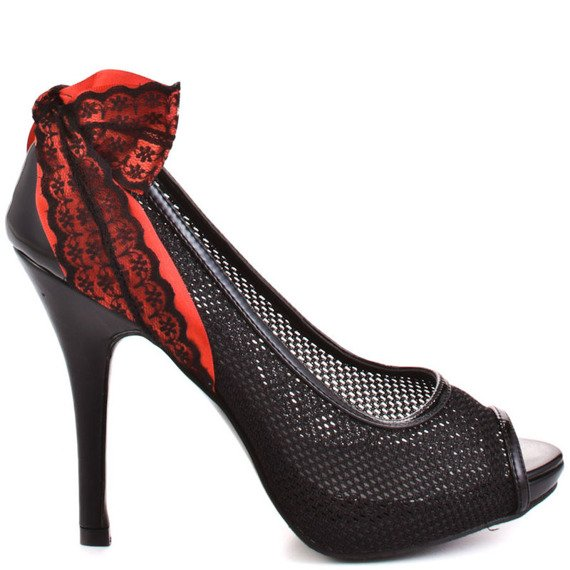 szpilki IRON FIST - MESHED UP HEEL (BLACK)
