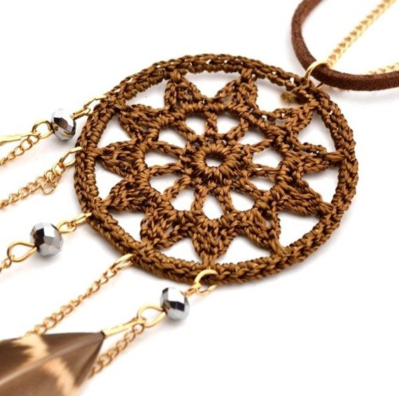 wisior DREAMCATCHER BROWN