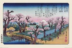 plakat HIROSHIGE - MOUNT FUJI, KOGANEI BRIDGE